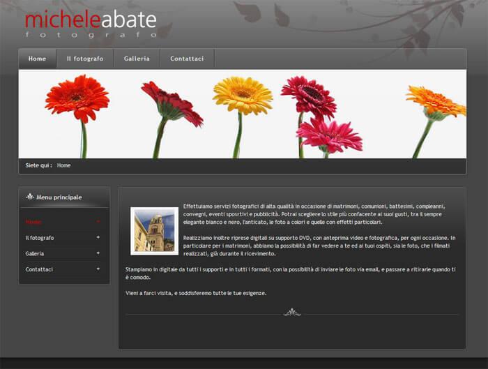 Realizzazione sito web per Michele Abate Fotografo