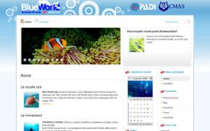 realizzazione sito internet Blue World Sub