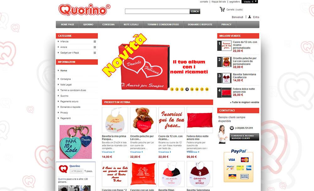 Realizzazione di E-Commerce per Quorino