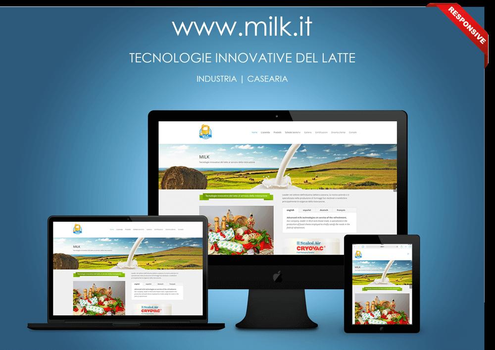 Portfolio Lavori: Cliente Milk - Industria casearia