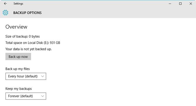 Proteggi i tuoi dati con lo strumento cronologia di Windows 10 - Figura D