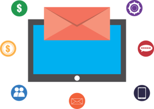 schermo con email