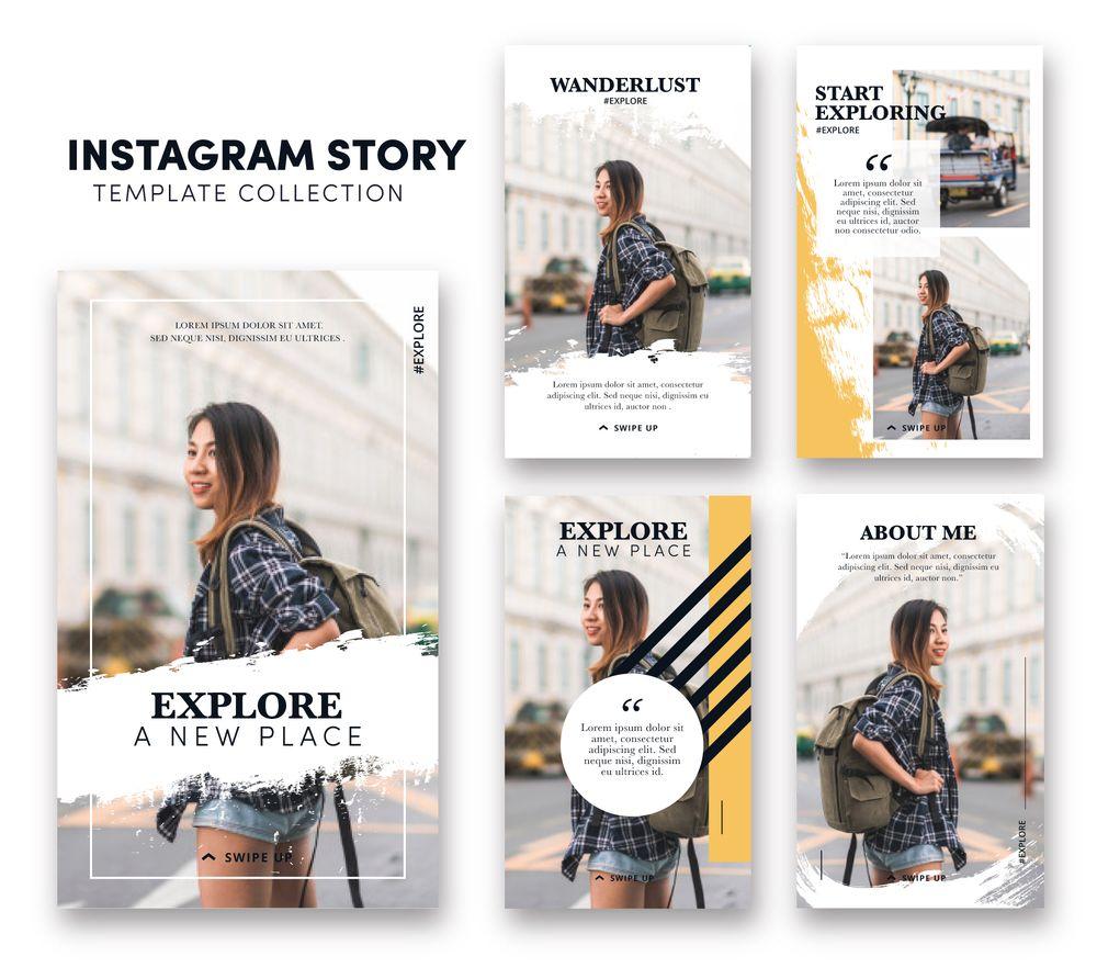 modello di instagram storie