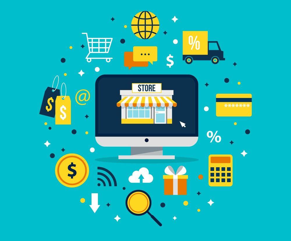 Vendere on-line immagine concettuale