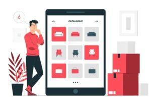 Illustrazione del concetto di vendita online