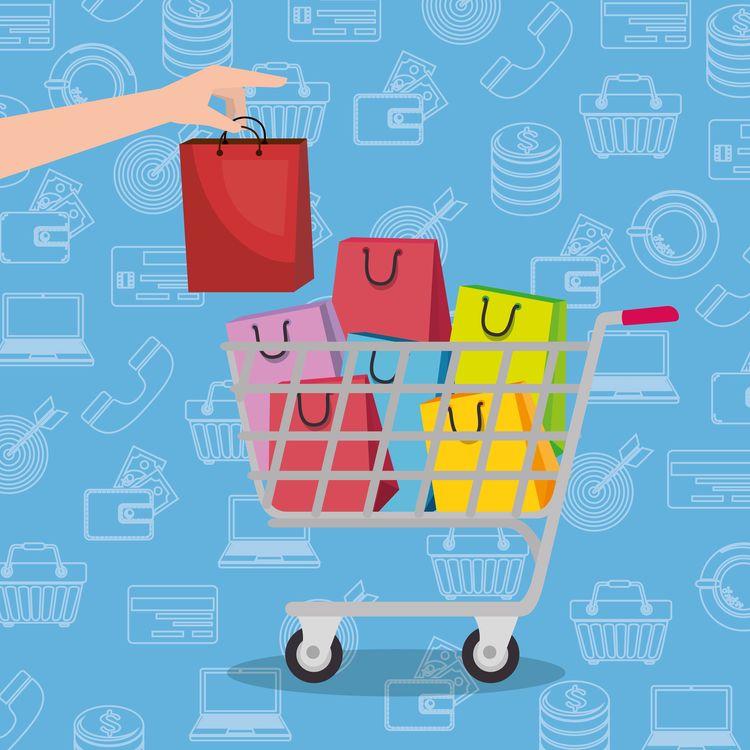 B2c e-commerce: Rappresentazione di un carrello virtuale